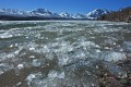 Photo of ice on St Mary Lake in Glacier National Park