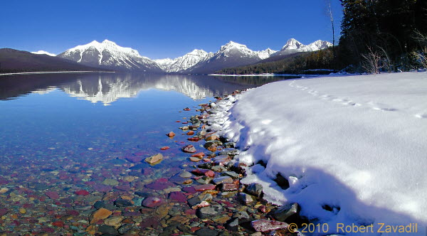 Photo of McDonald Lake Shorline in Glacier National Park