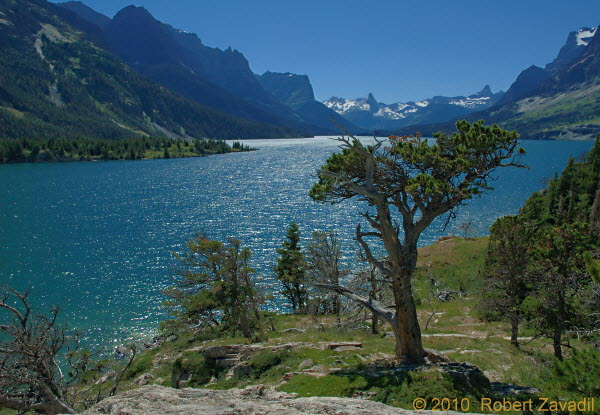 Summer on St Mary Lake in Glacier National Park