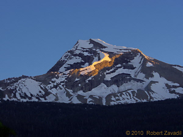Photo of Last Light on Heaven's Peak in Glacier National Park