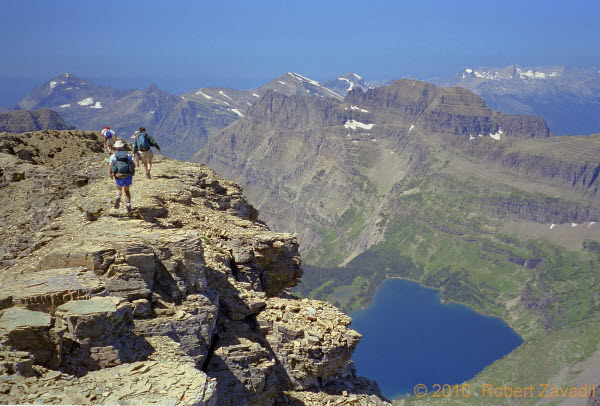 Photo of from Summit of Mount Reynolds in Glacier National Park