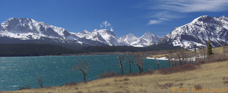 Photo of Windy St Mary Lake in Glacier National Park