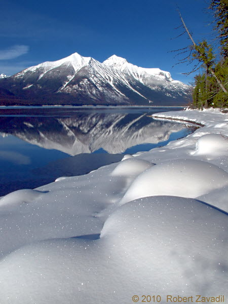 Photo of Lake McDonald Winter in Glacier National Park
