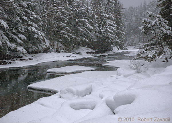 Photo of Winter on McDonald Creek in Glacier National Park